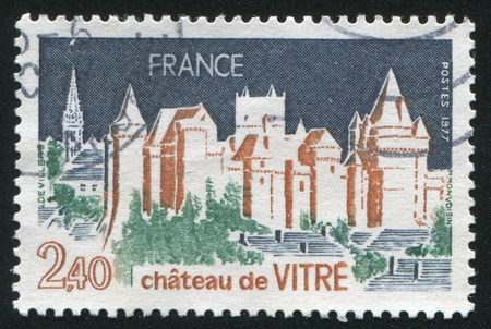 FRANCE - CIRCA 1941: stamp printed by France, shows Chateau de Vitre, circa 1941 photo