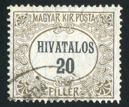 HUNGARY - CIRCA 1919: stamp printed by Hungary, shows pattern, circa 1919 photo