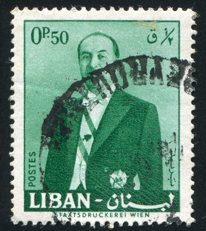 LEBANON CIRCA 1960: stamp printed by Lebanon, shows President Fuad Chehab, circa 1960 Stock Photo - 11755904