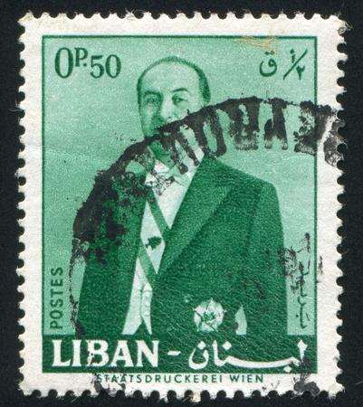 LEBANON CIRCA 1960: stamp printed by Lebanon, shows President Fuad Chehab, circa 1960 Stock Photo - 11755904