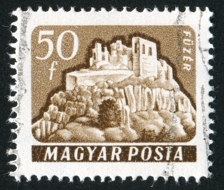 HUNGARY - CIRCA 1961: stamp printed by Hungary, shows Fuzer Castle, circa 1961 photo