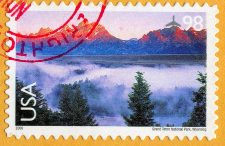 UNITED STATES CIRCA 2009: stamp printed by United States, shows Grand Teton National Park, circa 2009 photo