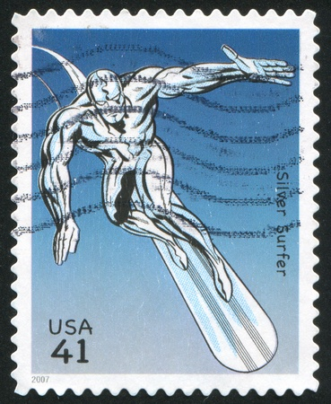 UNITED STATES - CIRCA 2007: stamp printed by United states, shows Silver Surfer, circa 2007