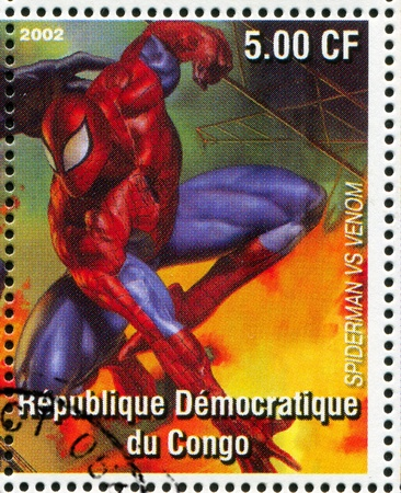 spiderman: CONGO - CIRCA 2002: stamp printed by Congo, shows Spider-man, circa 2002