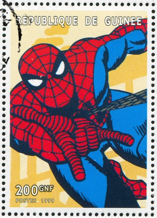 GUINEA - CIRCA 1999: stamp printed by Guinea, shows Spider-man, circa 1999 Editorial