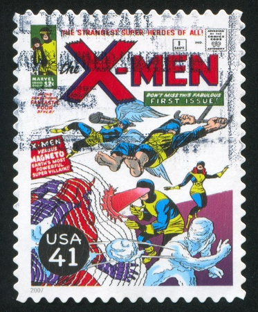 UNITED STATES - CIRCA 2007: stamp printed by United states, shows X-Men, circa 2007