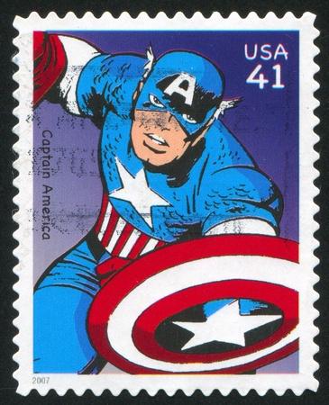 VEREINIGTE STAATEN - CIRCA 2007: Stempel von United States gedruckt, zeigt Captain America, circa 2007