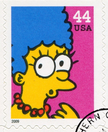 simpson: UNITED STATES CIRCA 2009: stamp printed by United States, shows Marjorie Simpson, circa 2009