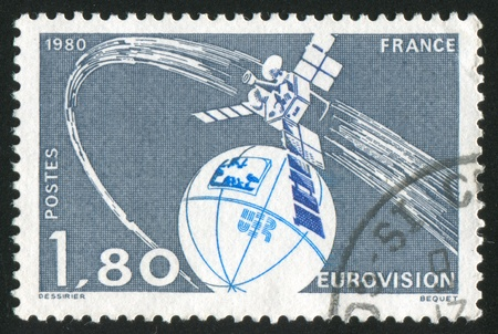 FRANCE - CIRCA 1980: stamp printed by France, shows Satellite, circa 1980 Stock Photo - 12118906