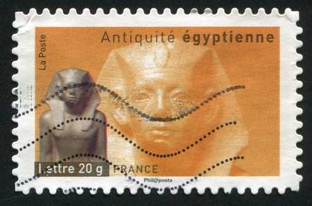FRANCE - CIRCA 2007: stamp printed by France, shows King Amenemhet III of Egypt, circa 2007 Stock Photo - 12117197