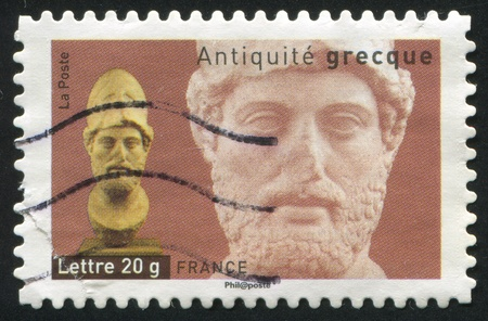 FRANCE - CIRCA 2007: stamp printed by France, shows Head of Pericles, circa 2007 Stock Photo - 12118934