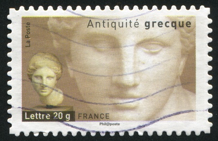 FRANCE - CIRCA 2007: stamp printed by France, shows Head of Aphrodite, circa 2007 Stock Photo - 12118935