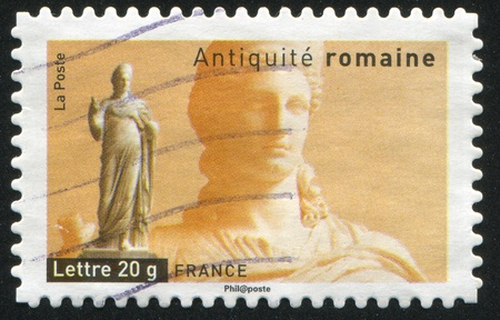 FRANCE - CIRCA 2007: stamp printed by France, shows Statue of Juno, circa 2007 Stock Photo - 12118987