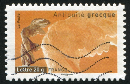 FRANCE - CIRCA 2007: stamp printed by France, shows Winged Victory of Samothrace, circa 2007 Stock Photo - 12118983