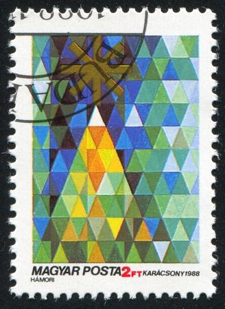 HUNGARY - CIRCA 1988: stamp printed by Hungary, shows Christmas, circa 1988 Stock Photo - 12118903