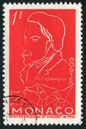 MONACO - CIRCA 1954: stamp printed by Monaco, shows Frederic Ozanam, circa 1954