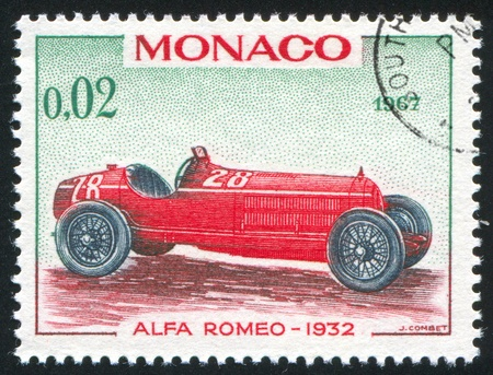 MONACO - CIRCA 1967: stamp printed by Monaco, shows Alfa Romeo, 1932, circa 1967 photo