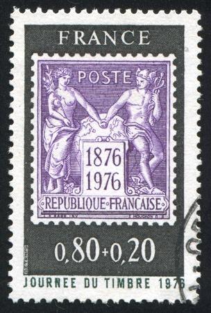mercury staff: FRANCE - CIRCA 1976: stamp printed by France, shows Sage, circa 1976