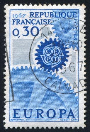 asterix: FRANCE - CIRCA 1967: stamp printed by France, shows asterix, circa 1967 Stock Photo
