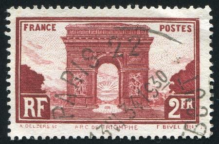 FRANCE - CIRCA 1930: stamp printed by France, shows Arc de Triumph, circa 1930 photo