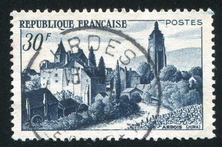 FRANCE - CIRCA 1951: stamp printed by France, shows Chateau Bonetemps, Arbois, circa 1951 photo