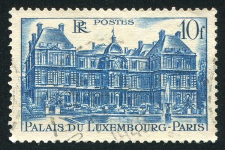 FRANCE - CIRCA 1946: stamp printed by France, shows Luxembourg Palace, circa 1946 photo