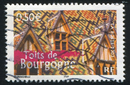 FRANCE - CIRCA 2003: stamp printed by France, shows Roof Bourgogne, circa 2003 photo