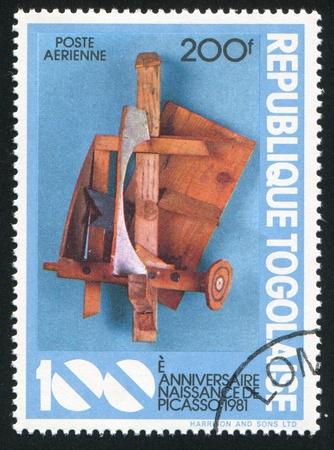 TOGO - CIRCA 1981: stamp printed by Togo, shows Mandolin and clarinet, Picasso, circa 1981