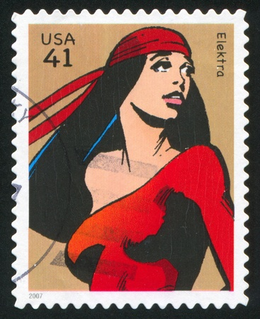 UNITED STATES - CIRCA 2007: stamp printed by United states, shows Elektra, circa 2007