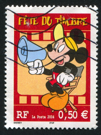 FRANCE - CIRCA 2004: stamp printed by France, shows Mickey mouse, circa 2004
