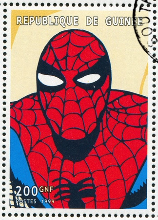 spiderman: GUINEA - CIRCA 1999: stamp printed by Guinea, shows Spider-man, circa 1999 Editorial