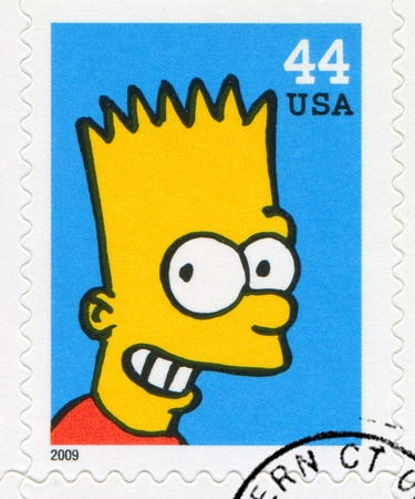 simpson: UNITED STATES CIRCA 2009: stamp printed by United States, shows Bartholomew Jo-Jo Simpson, circa 2009 Editorial