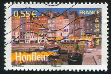 FRANCE - CIRCA 2008: stamp printed by France, shows Honfleur, circa 2008 Stock Photo - 12395635
