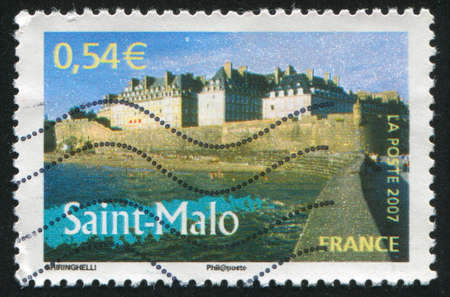 FRANCE - CIRCA 2007: stamp printed by France, shows Saint Malo circa 2007 Stock Photo - 12396830