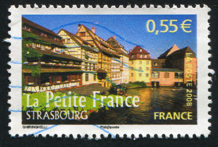 FRANCE - CIRCA 2008: stamp printed by France, shows Strasbourg, circa 2008 Stock Photo - 12395512