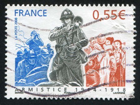 FRANCE - CIRCA 2008: stamp printed by France, shows people, circa 2008 Stock Photo - 12396201