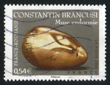 constantin: FRANCE - CIRCA 2006: stamp printed by France, shows Sculptures by Constantin Brancusi, circa 2006 Stock Photo