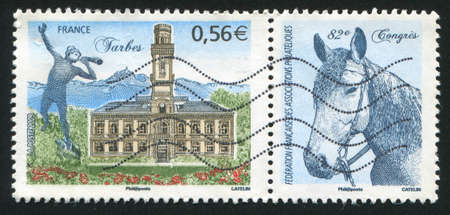 FRANCE - CIRCA 2009: stamp printed by France, shows Philatelic Congress in Tarbes, circa 2009 photo