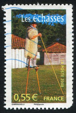 stilts: FRANCE - CIRCA 2008: stamp printed by France, shows Stilts, circa 2008