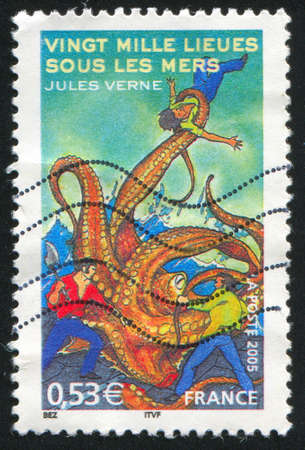 FRANCE - CIRCA 2005: stamp printed by France, shows 20,000 Leagues Under the Sea by Jules Verne, circa 2005