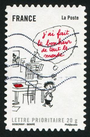 FRANCE - CIRCA 2009: stamp printed by France, shows Le petit Nicolas Self, circa 2009