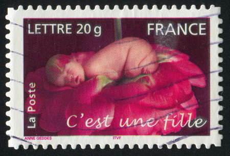 anne: FRANCE - CIRCA 2005: stamp printed by France, shows girl, circa 2005 Editorial