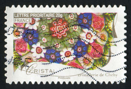 FRANCE - CIRCA 2009: stamp printed by France, shows crystal, circa 2009 photo