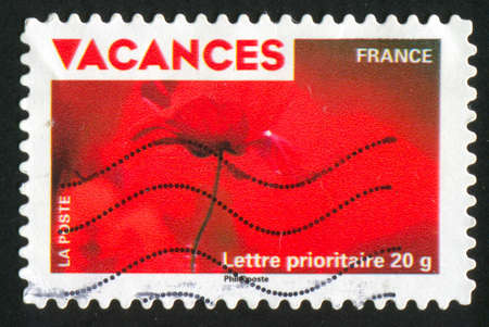 FRANCE - CIRCA 2009: stamp printed by France, shows poppy, circa 2009 photo