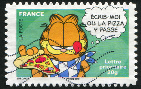 FRANCE - CIRCA 2008: stamp printed by France, shows Garfield, circa 2008 Stock Photo - 12354864