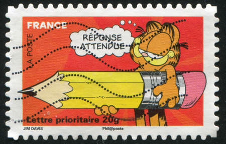 FRANCE - CIRCA 2008: stamp printed by France, shows Garfield, circa 2008