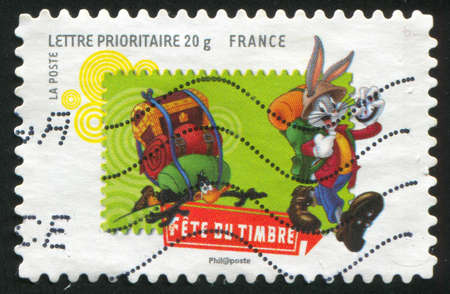 bugs bunny: FRANCE - CIRCA 2009: stamp printed by France, shows Bugs Bunny, circa 2009
