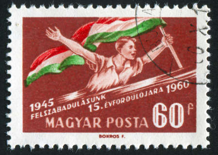 HUNGARY - CIRCA 1960: stamp printed by Hungary, shows national liberation, circa 1960 photo
