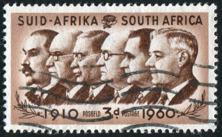 SOUTH AFRICA - CIRCA 1960: stamp printed by South Africa, shows Prime Ministers, circa 1960