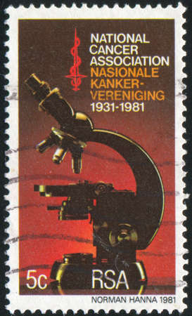 SOUTH AFRICA - CIRCA 1981: stamp printed by South Africa, shows Microscope, circa 1987 photo